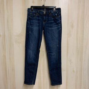 EUC Just Black Skinny Jeans Size 27